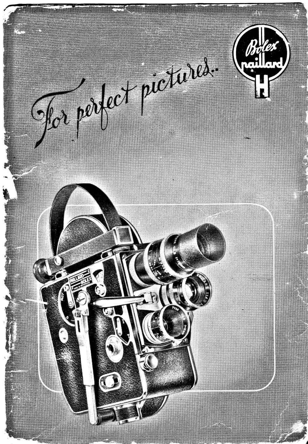 PAILLARD-BOLEX Model H Cameras user manual cover